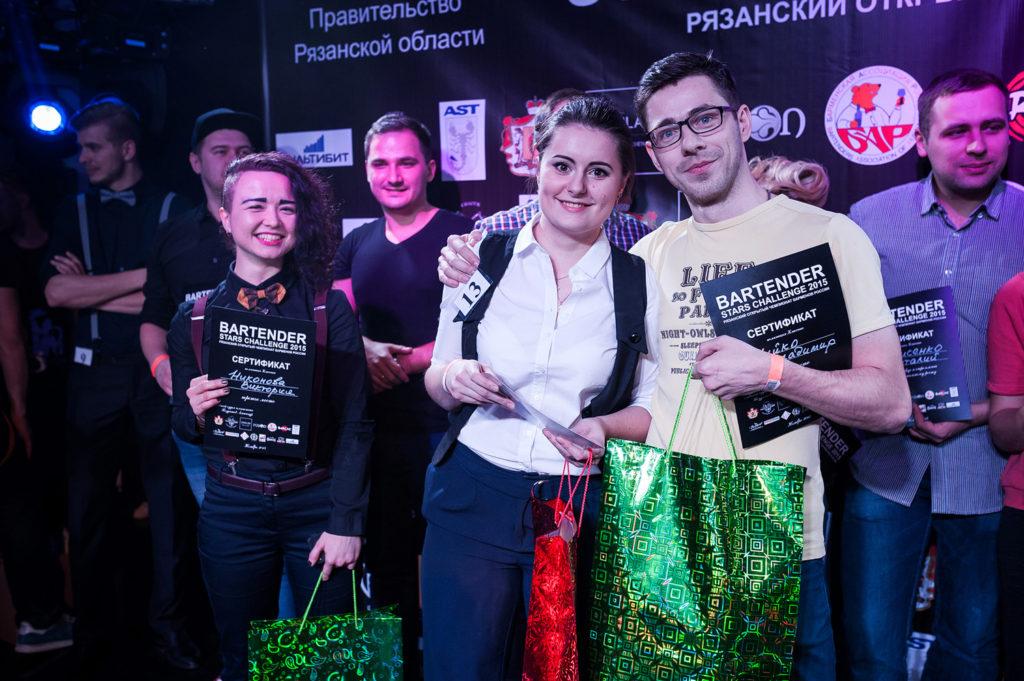 Изображение победителей чемпионтата барменов. Церемония награждения. Bartender Stars Challenge